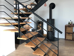 Escalier demi tournant design